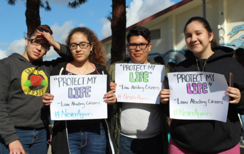 Arroyo Students Participate in the National Walkout